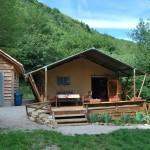 Safaritent in de natuur in Zuid Frankrijk | Vooraanzicht